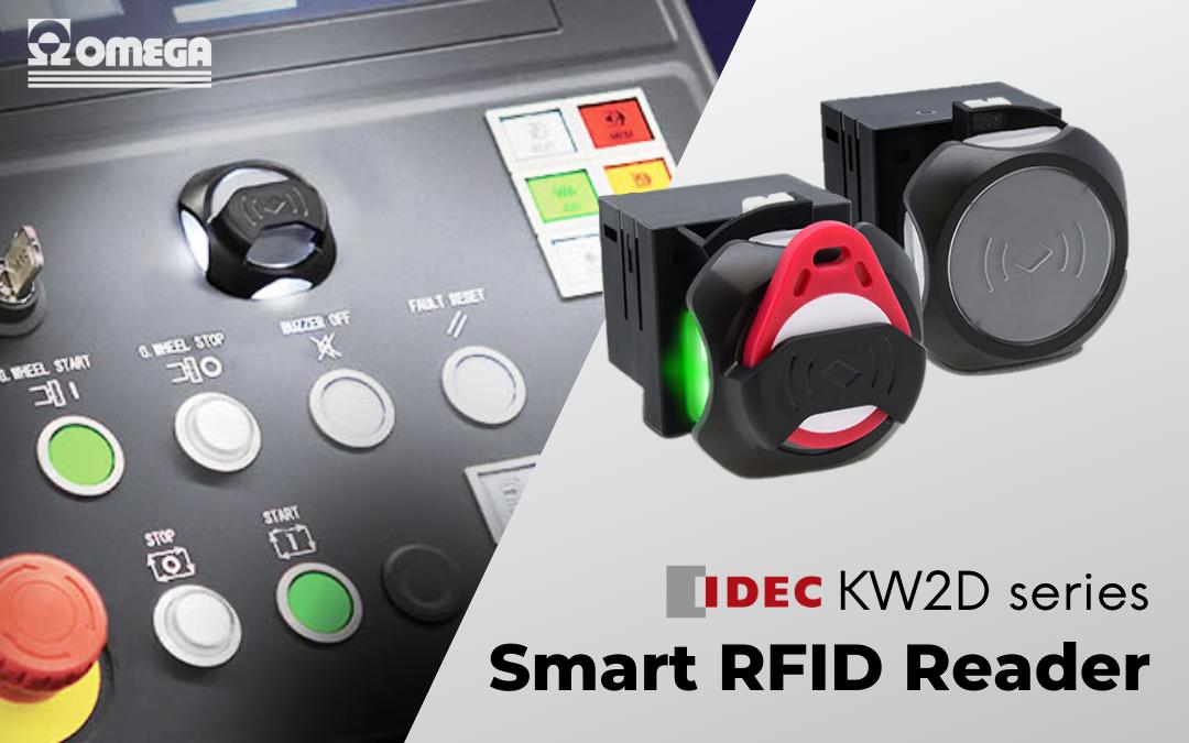 KW2D Idec – Lettore RFID intelligente e autonomo per pannelli eleganti e moderni