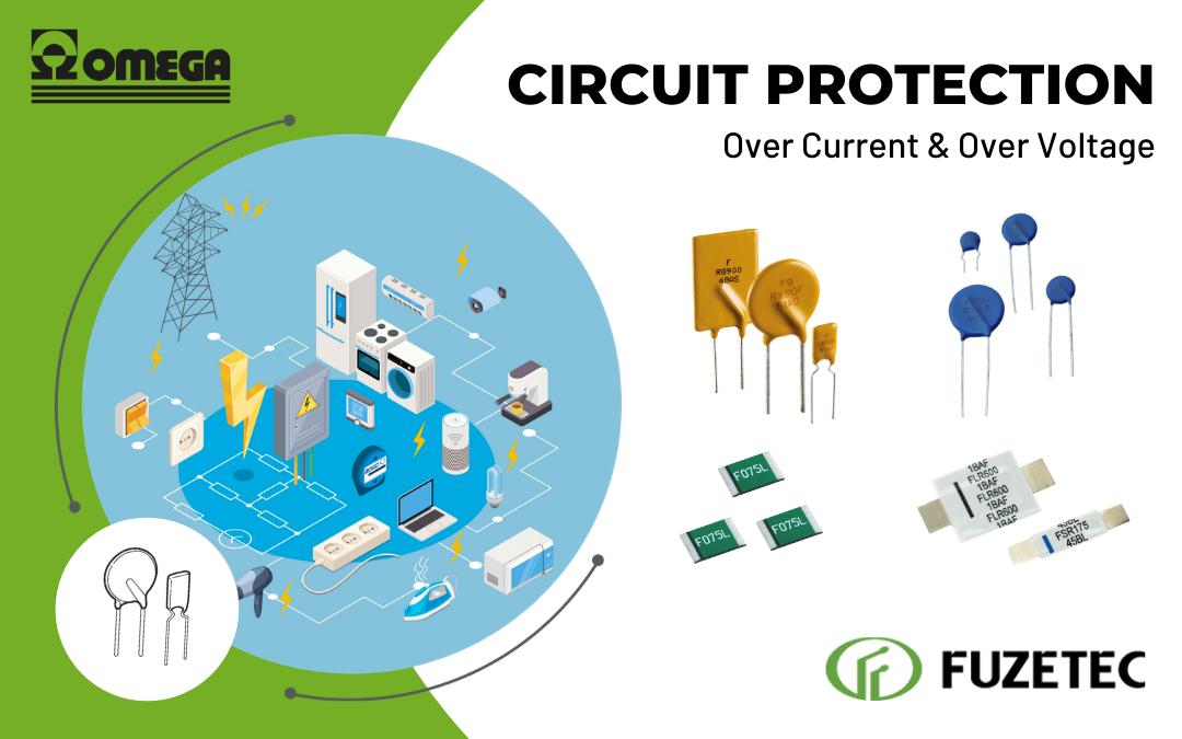 fusibili ripristinabili PPTC e varistori MOV per la protezione dei circuiti. Prodotti da Fuzetec distribuiti d Omega Fusibili