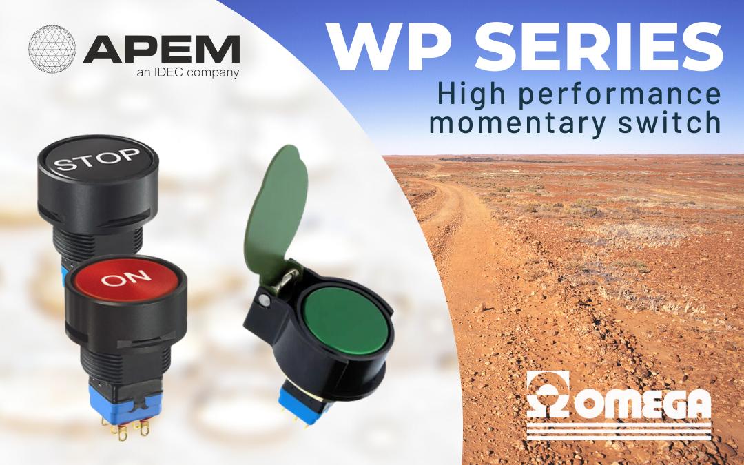 Serie WP interruttori momentanei ad alte prestazioni rossi neri e versi di apem e omega fusibili